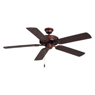 Allie 52 Outdoor 5-Blade Ceiling Fan By Alcott Hill Outdoor Lighting