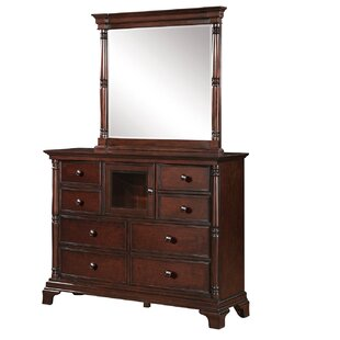 Darby Home Co Rodriques 8 Drawer Combo Dresser with Mirror