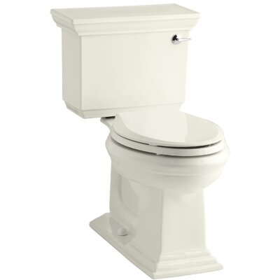 Stately Comfort Height Two Elongated Toilet Aquapiston Flush Technology Right Hand Trip Le