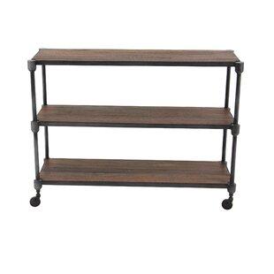 Gracie Oaks Gatti Rustic 3-Tiered Shelf C..