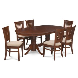 Bellino 7 Piece Extendable Solid Wood Dining Set