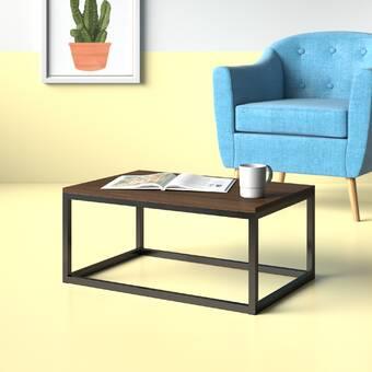 17 Stories Grissett Cross Legs Coffee Table Wayfair