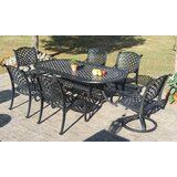 Puente 7 Piece Dining Set with Sunbrella Cushions