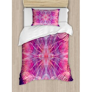 East Urban Home Extreme Close Up Dandelion Flower Abstract Vivid Dreamy Magical Nature Duvet Set