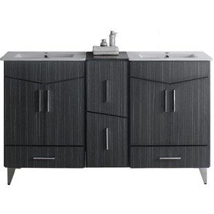 Keels 62 Double Sink Bathroom Vanity by Orren Ellis