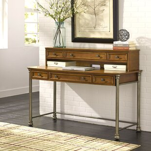 Red Barrel Studio Kibbe Writing Desk with Hutch and Keyboard Tray