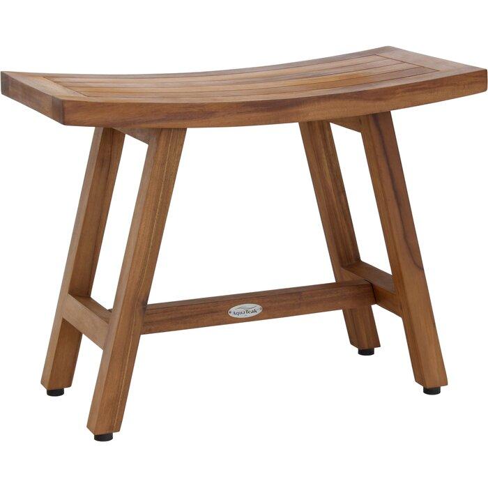 Strange Asia Lotus Teak Shower Bench Inzonedesignstudio Interior Chair Design Inzonedesignstudiocom