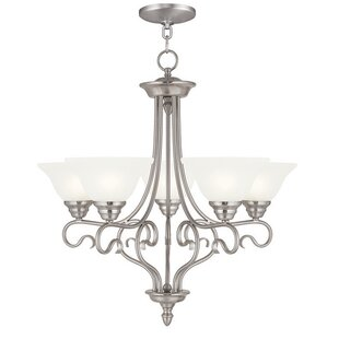 Darby Home Co Lewisboro 5-Light Shaded Chandelier