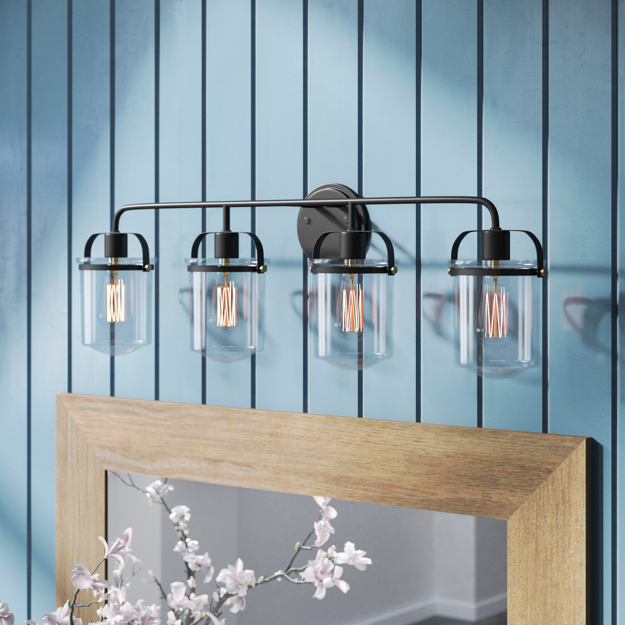 Laurel Foundry Modern Farmhouse Portland 4-Light Vanity Light ...