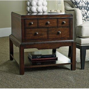 Palisade End Table With Storage by Hooker Furniture New