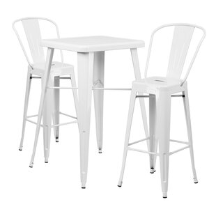 Jesse 3 Piece Bar Height Dining Set by Tr..