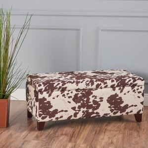 Bower Velvet Storage Ottoman Bench