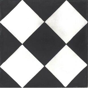 Mealu 8 X Checker Cement Decorative Concrete Tile Set Of 4