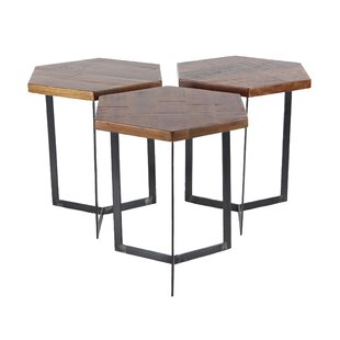 Wales Contemporary 3 Piece Hexagonal Bunching Coffee Table Set by Union Rustic Best