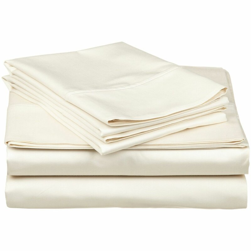 New Luxury Plain Dyed 400 TC 100/% Egyptian Cotton Hotel Quality Cream Flat Sheet