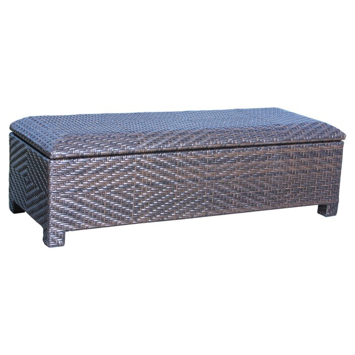 Great Casarano Wicker Storage Bench