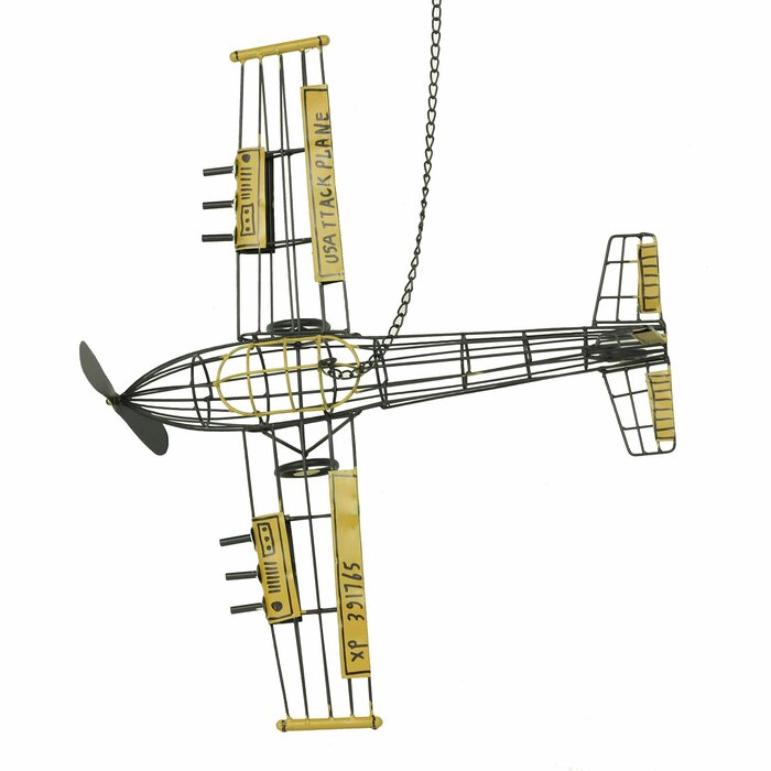 Metal Airplane Model Pendant Wall Décor