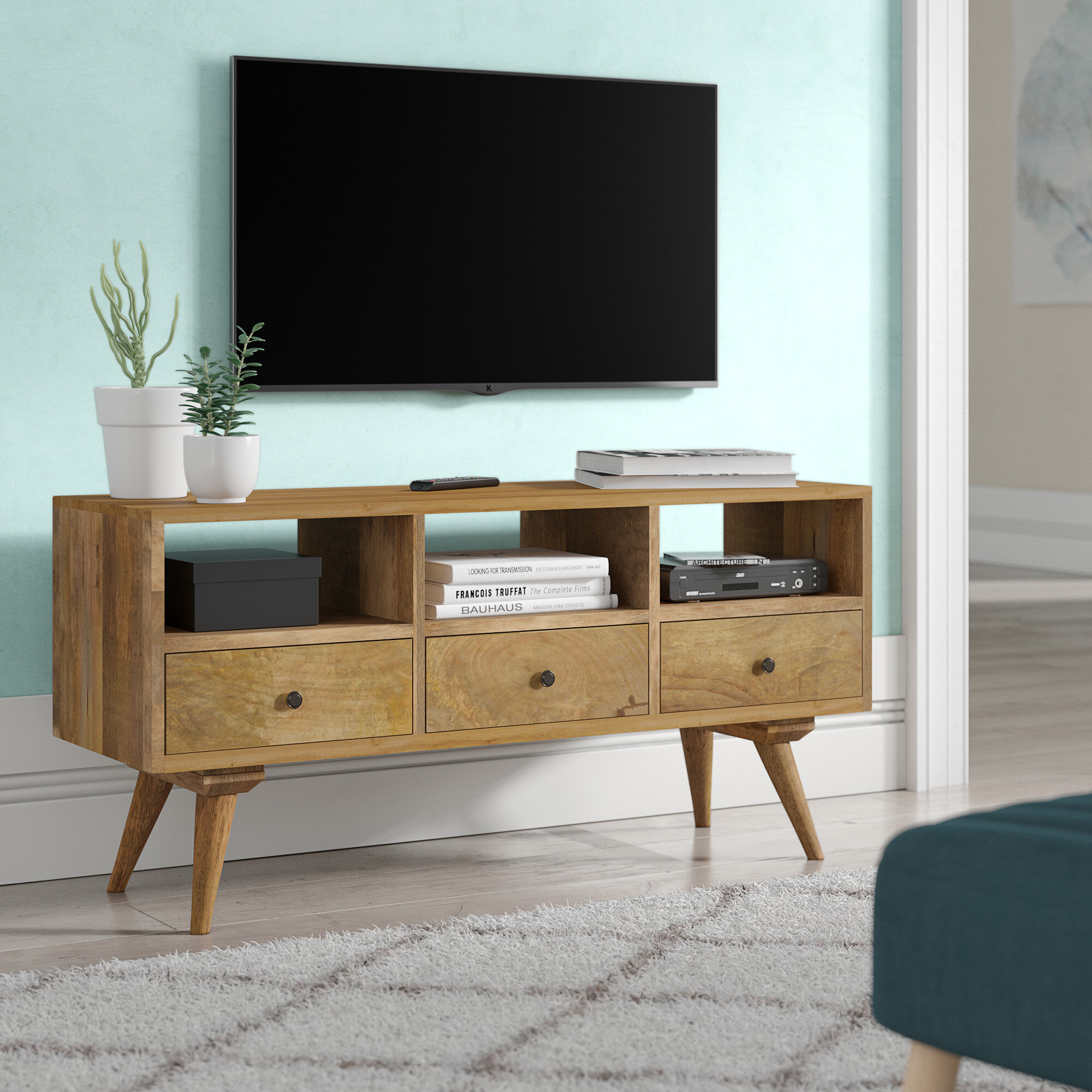George Oliver Solid Wood Tv Stand For Tvs Up To 43 Reviews Wayfair Co Uk