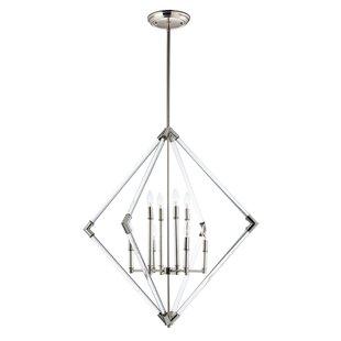 Hertel 8-Light Geometric Chandelier by Mercer41
