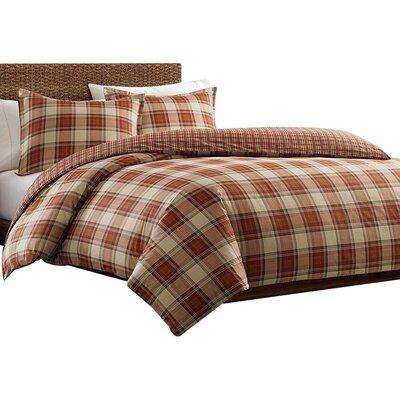 Edgewood Plaid Cotton Flannel Duvet Cover Set