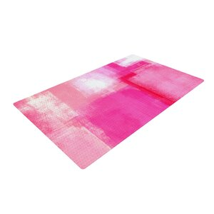 CarolLynn Tice Running Late Pink/White Area Rug