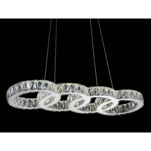 House of Hampton Maxon 1-Light LED Crystal Pendant