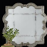 Silver Wood Wall Mirror by Mercer41