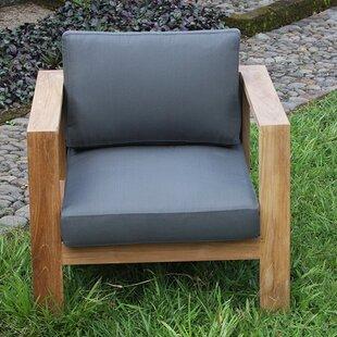 Harmonia Living Ando Teak Club Chair with Cushion