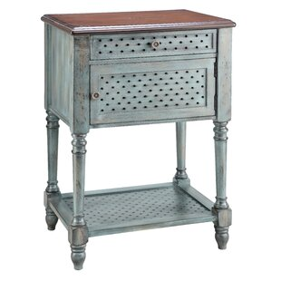Reviews Dominick End Table by World Menagerie