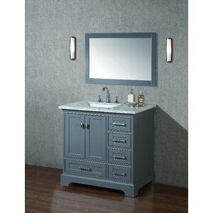 Stian 36 Single Sink Bathroom Vanity Set with Mirror