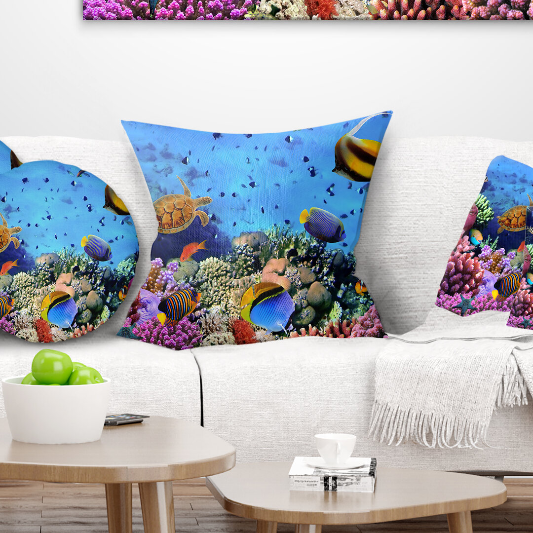 Animal Coral Colony on Reef Egypt Pillow