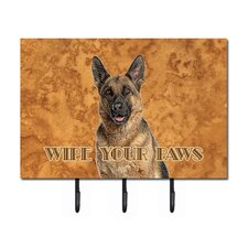 Jack Russell Terrier Wipe Your Paws Leash Holder and Key Hook by Caroline's Treasures