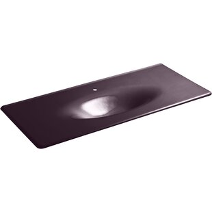 Iron/Impressions 49-in Vanity-Top Bathroom Sink with Single Faucet Hole by Kohler