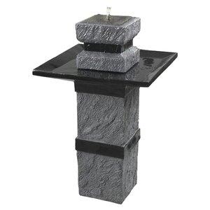 Natural Stone Solar Bridge Outdoor Fountain
