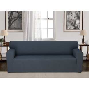 Shop Box Cushion Stretch Sofa Slipcover by Charlton Home