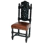Parkersburg Upholstered Queen Anne Back Side Chair in Brown (Set of 2) by Astoria Grand