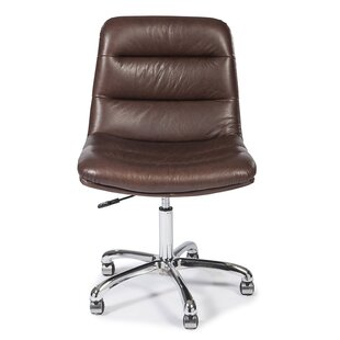 Genuine Leather Task Chair by Lazzaro Leather Spacial Price