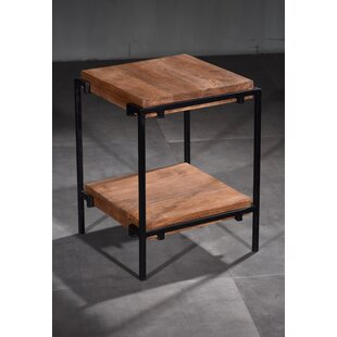 Mahika Iron Wooden End Table
