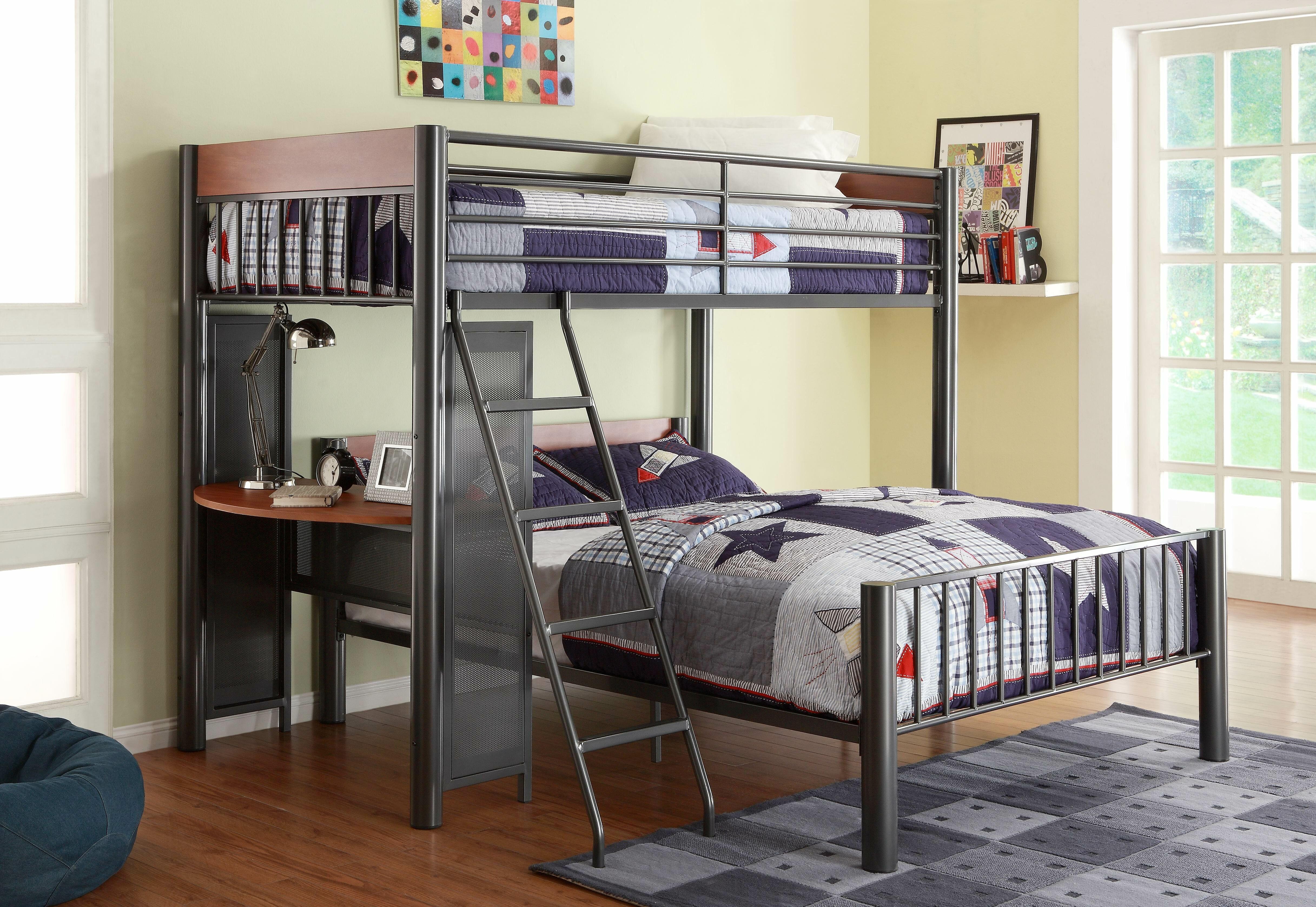 Harriet Bee Twyla Twin Over Full Metal L Shaped Bunk Beds With Built In Desk By Harriet Bee Reviews Wayfair