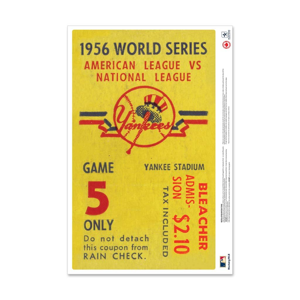 Mustang Products New York Yankees 1956 World Series Ticket Stub Wall Decal Wayfair