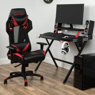 Reviews Rectangular Gaming Desk and Chair Set By Respawn