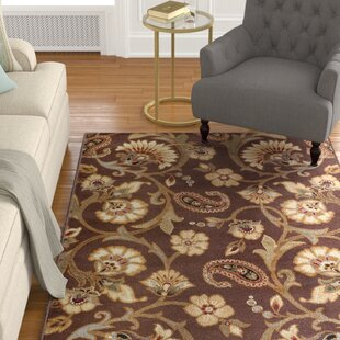 Lapoint Brown 7 Ft 10 In Round Transitional Area Rug
