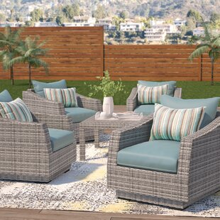 Melinda 5 Piece Conversation Set with Cushions