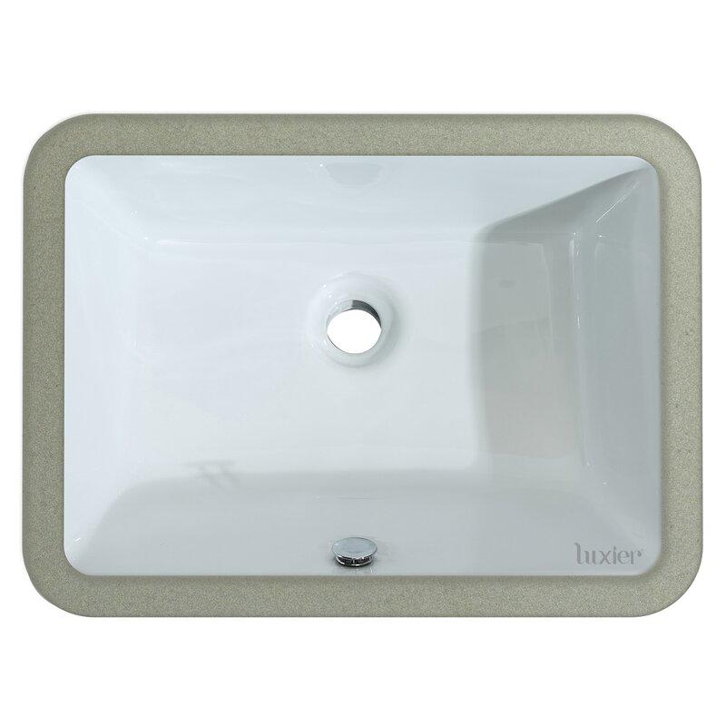 Luxier Ceramic Rectangular Undermount Bathroom Sink With Overflow Wayfair