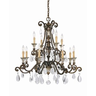 Astoria Grand Fairgrove 12-Light Candle Style Chandelier
