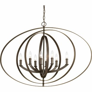 Brayden Studio Morganti 8-Light Globe Chandelier