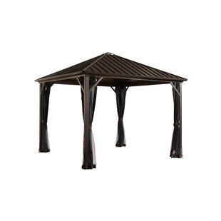 Dakota 8 Ft. W x 8 Ft. D Aluminum Patio Gazebo by Sojag