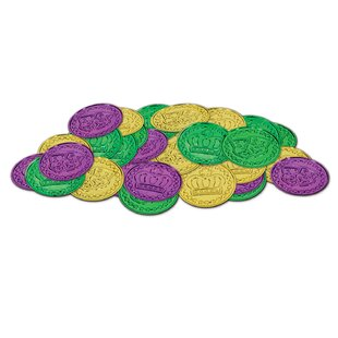 Finkelstein Mardi Gras Plastic Coin Sculpture by The Holiday Aisle Fresh