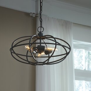 Reviews Kidsgrove 3-Light Globe Chandelier By Williston Forge