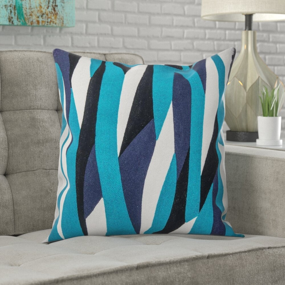 Wrought Studio Mousseau Handmade Abstract Indoor Outdoor Cotton Throw Pillow Cover Wayfair